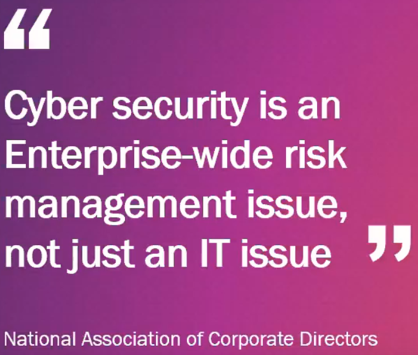 cyber security is enterprise-wide