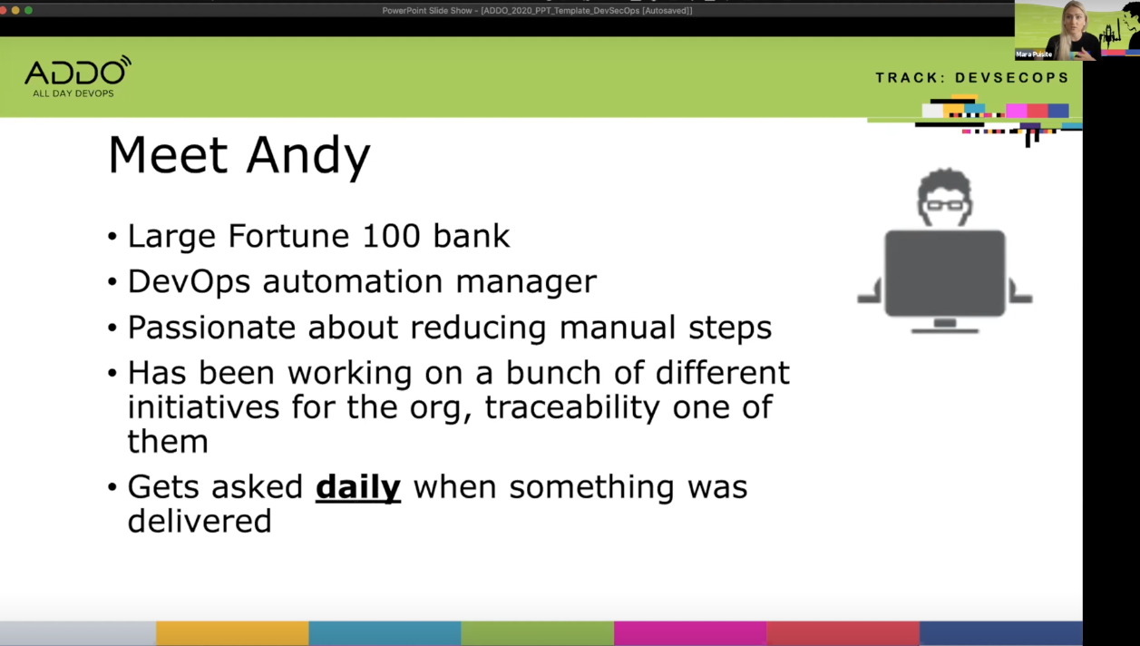 Andy working on traceability