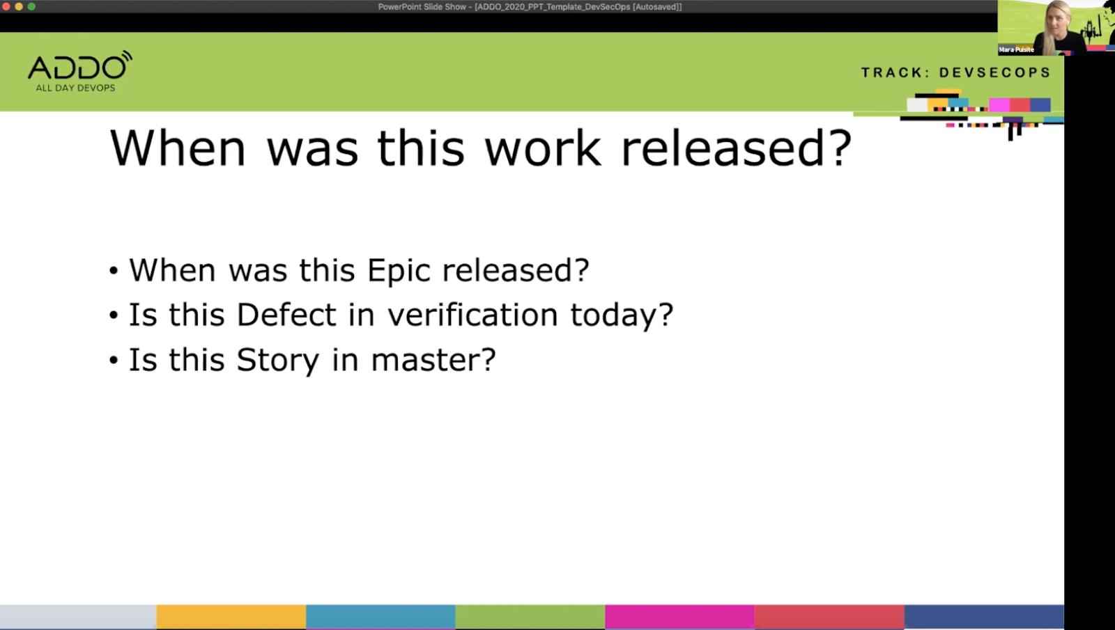 Mara's presentation on Traceability