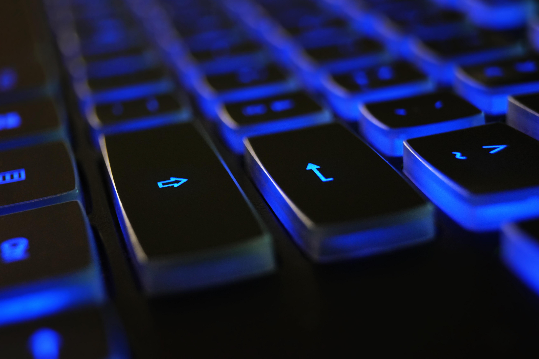 black-blue-computer-keyboard